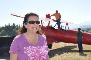 Getting ready to wing walk