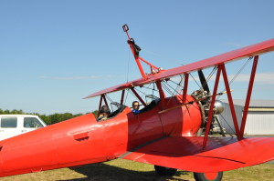 Plane set up for wing walking
